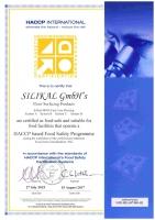 دریافت گواهی رسمی مجری محصولات سیلیکال